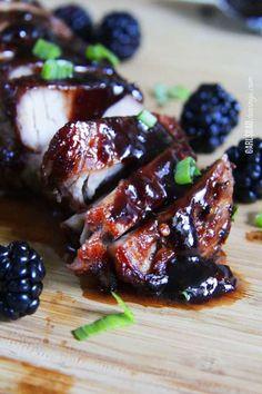 Roasted Pork Tenderloin with Blackberry Hoisin Sauce - Carlsbad Cravings