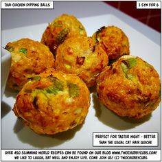 Looking for something unusual but easy to make for SW's taster nights? These Thai chicken dipping balls are fuss-free, full of flavour and so low in syns! Healthy Eating Recipes, Low Carb Recipes, Mince Recipes, Savoury Recipes, Healthy Dishes, Savoury Dishes, Recipes Dinner, Cooking Recipes, Chicken Balls