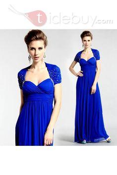 Amazing Capped-Sleeve Floor-Length Beade Evening Moter Dress : Tidebuy.com