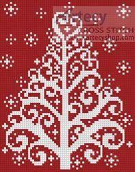 Christmas Tree Card cross stitch chart