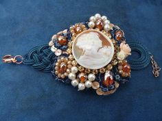 Portrait of Emilie Floge, Bracelet with hand crafted cameo and macramè