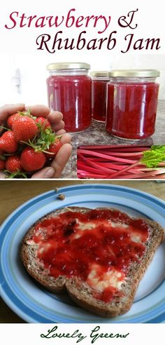 Recipe for Strawberry & Rhubarb Jam...my absolute favourite #jamrecipe #strawberryrecipe #rhubarbrecipe