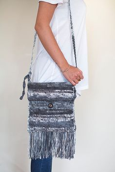 Crochet Crossbody bag, Crochet shoulder Bag, Crochet messenger bag