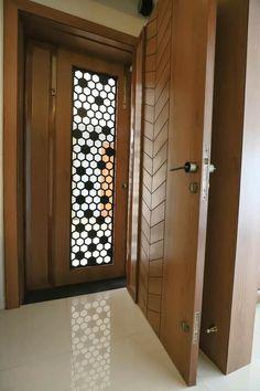 House Main Door Design, Door And Window Design, Main Entrance Door Design, Wooden Main Door Design, Double Door Design, Home Entrance Decor, Interior Design Under Stairs, Door Design Interior, Indian Main Door Designs