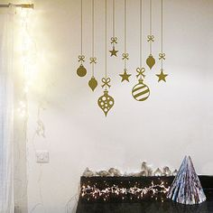 Baubles Wall Stickers <3 Also looks awesome on a fridge.