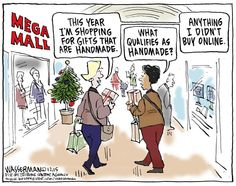 Editorial cartoon: The rules of Christmas shopping have changed