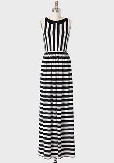 Jeanette Striped Maxi Dress