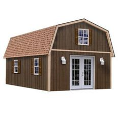 Best Barns Richmond Gambrel Engineered Wood Storage Shed (Common: x Interior Dimensions: x Storage Shed Kits, Wood Storage Sheds, Wooden Sheds, Built In Storage, Metal Building Homes, Building A Shed, Building Ideas, Metal Homes, Storage Building Homes