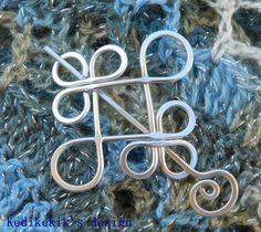 Silver CELTIC BROOCH Hair Pin or Shawl Pin made with by Kedikekik, $15.00