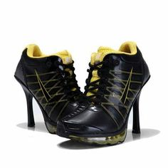 High heeled tennis shoes!