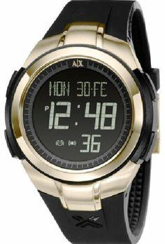 Armani Exchange Crystal Accents Digital Black Dial Women's watch #AX5018 Armani. $180.00