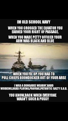 Shellbacks all the way! Navy Memes, Navy Quotes, Navy Humor, Navy Seals Quotes, Military Quotes, Military Humor, Military Veterans, Biker Quotes, Navy Day