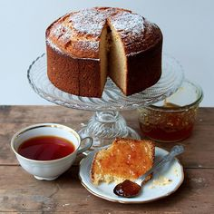 I knew I liked this when I saw it as it reminded me of the years I lived in England and visits to Spain.sure enough when I went to the recipe it is from a Britain :) Tea Cakes, Cupcake Cakes, Cupcakes, Sweet Recipes, Cake Recipes, Seville Orange Marmalade, Citrus Cake, Piece Of Cakes, Sweet Bread