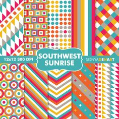 50 Off SALE Southwest Sunrise Digital by SonyaDeHartDesign on Etsy, $2.00