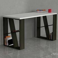 Kancelářský stůl Honey, bílá/černá