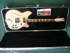 RICKENBACKER 360 MAPLEGLO - BRAND NEW!  This guitar broke all the rules of traditional styling when it appeared amid the 'British' sound of the 1960's.  Subtly updated through the years, this Deluxe hollow body with its special contour around the entire body perimeter, is still perhaps the most comfortable guitar of all. The bound body and Rosewood fingerboard, inlayed with triangular pearloid markers, provide an exceptionally attractive appearance. Stereo output is standard.