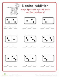 Worksheets: Domino Addition!