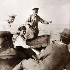 AN , Nagorny and Gillard fishing 1913 Peterhof