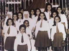 Alunas do colégio Santa Bartoloméa Capitanio, na década de 1970.
