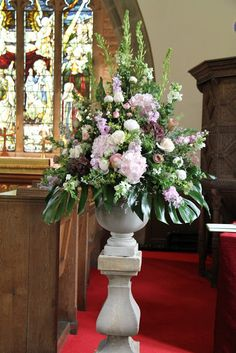 Flower Design Events: Church Pedestal at St Michael's Whitewell