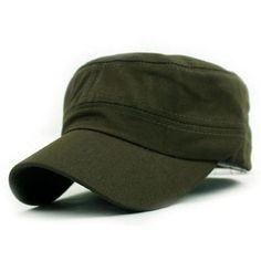 Tosangn Vintage Army Military Cadet Style Cotton Cap Hat... ($2.80) ❤ liked on Polyvore featuring accessories, hats, baseball caps, ball cap, vintage military hats, cap hats and army baseball caps