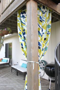 Outdoor curtains from Ikea When considering to sleeping quarters decoration strategies, some things Ikea Curtains, Outdoor Curtains, Ikea Outdoor, Outdoor Living, Outdoor Ideas, Colorful Curtains, Home Furnishings, Outdoor Gardens, Nightstands