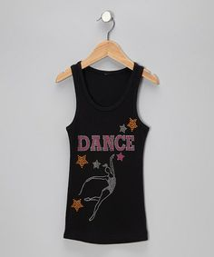 Take a look at this Black 'Dance' Star Tank - Toddler & Girls by Bubblegum Diva on #zulily today!
