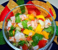 Traditional Belizean style ceviche made with Caribbean  shrimps    Ingredients:  About half a pound of raw (uncooked) cleaned shrimp 2 cups diced ripe tomatoes 1 large onion diced 1 bunch cilantro chopped 1 habanero pepper minced 5 good limes 1 tsp salt (salt to taste)   Instr…