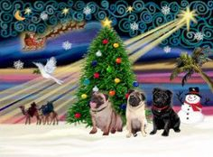 Magia del navidad pugs