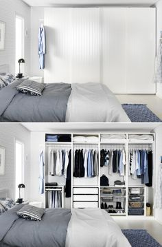 Wardrobes IKEA : PAX wardrobes Even behind closed doors, you can avoid closet clutter by making sure you have the right type of organization for your things. Bedroom Wardrobe, Wardrobe Closet, Home Bedroom, Wardrobe Storage, Pax Closet, Ikea Pax Wardrobe, Attic Closet, Bedroom Dressers, Ikea Bedroom