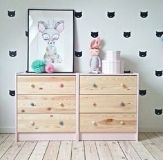 IKEA RAST drawers looks super cute in pastel