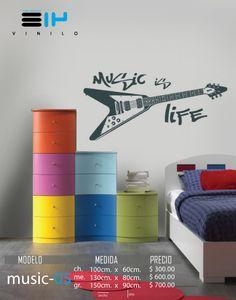 vinilos decorativos musicales guitarra electrica