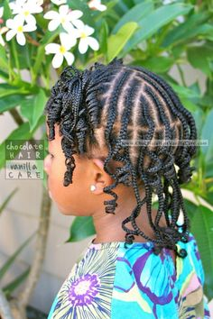 Curled Front Boxed Braids and Staggered Back Cornrows #Hairstyle #Tutorial | Chocolate Hair / Vanilla Care