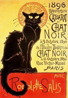 """Puzzle EDUCA """"Reapertura del cabaret Chat Noir, T.A. Steinlen"""", 1.000 piezas."""