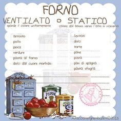 FORNO STATICO O VENTILATO Cooking Time, Cooking Recipes, My Favorite Food, Favorite Recipes, Kitchen Queen, Baking Basics, Cake & Co, Cake Decorating Tips, Hygiene