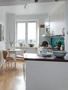 When light colours are used in a kitchen, the larger it can appear.