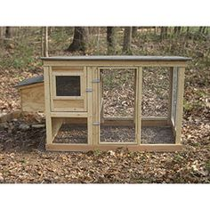 Chicken Coop - doesnt get much easier than this! No reason not to have 3 girls! Building a chicken coop does not have to be tricky nor does it have to set you back a ton of scratch. Urban Chicken Coop, Cheap Chicken Coops, Small Chicken Coops, Chicken Barn, Portable Chicken Coop, Chicken Coop Designs, Backyard Chicken Coops, Backyard Farming, Chickens Backyard