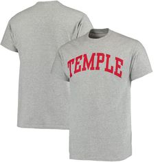 Temple Owls Basic Arch T-Shirt - Gray - $10.39