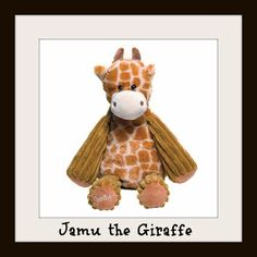 """Jamu the Giraffe Scentsy Buddy  Caring and huggable, Jamu the Giraffe is approximately 8"""" tall when seated and approximately 12"""" tall from head to toe. She comes alive with fragrance when you place a Scent Pak in the zippered pocket in her back.    Your Price: $25.00"""