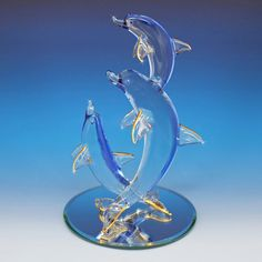 This item is unavailable Craft Storage Furniture, Dolphin Fin, Dolphin Images, Blown Glass Art, Glass Figurines, Crystal Decor, Glass Animals, Fish Art, Animal Sculptures