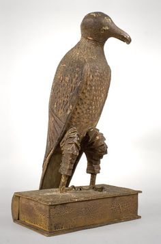 Antique Carved Eagle, Perched on Book, 19th Century, right angle view
