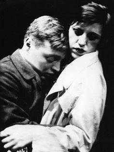 Peter Lorre and Lotte Lenya in a theatrical production of Franz Wedekind's Spring Awakening [Frühlings Erwachen], Berlin, 1929 viaweakwar