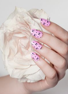 What's a girly girl to do in this world? These bow-detailed nail wraps capture Spring's most adorable trend so your tips can be as sweet as you!