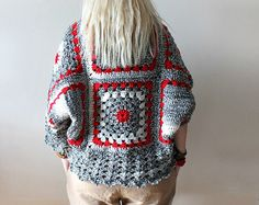 Hand Knit Cardigan . oversized cardigan . chunky by LoveandKnit