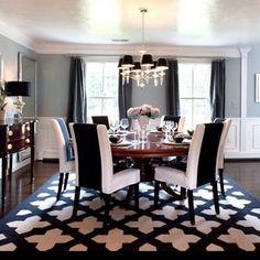 Black & white dining room @KortenStEiN