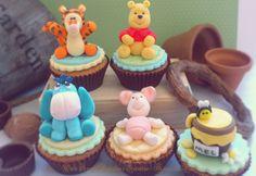 Cupcakes Winnie The Pooh Bear. http://www.facebook.com/catssecretcupcakes