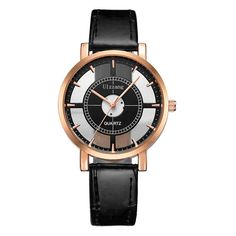 Fashion Women Watch Luxury Unique Stylish Double Hollow Lady Watch. Item Type: Quartz WristwatchesWater Resistance Depth: 3BarCase Shape: RoundBand Length: 22.5 cmBand Material Type: LeatherFeature: Water ResistantBoxes & Cases Material: PaperGender: WomenBand Width: 16 mmStyle: Fashion & CasualClasp Type: BuckleCase Material: AlloyModel Number: 010512Movement: QuartzDial Diameter: 35 mmBrand Name: ulzzangDial Window Material Type: GlassCase Thickness: 9 mmLadies Watch: female watchwomen…