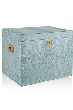 Smythson|Mara Deluxe croc-effect leather jewelry box|NET-A-PORTER.COM