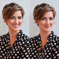 18 Fresh Short Hairstyles for Wavy Hair: Short Wavy Pixie Hairstyle; Short Pixie Haircuts, Short Hairstyles For Women, Messy Hairstyles, Short Hair Cuts, Straight Hairstyles, Pixie Cuts, Hairstyles 2018, Hairdos, Model Hairstyles
