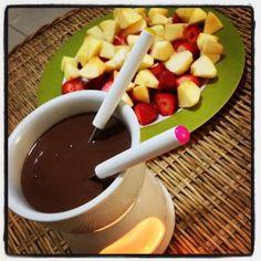 Fondue de chocolate dukan